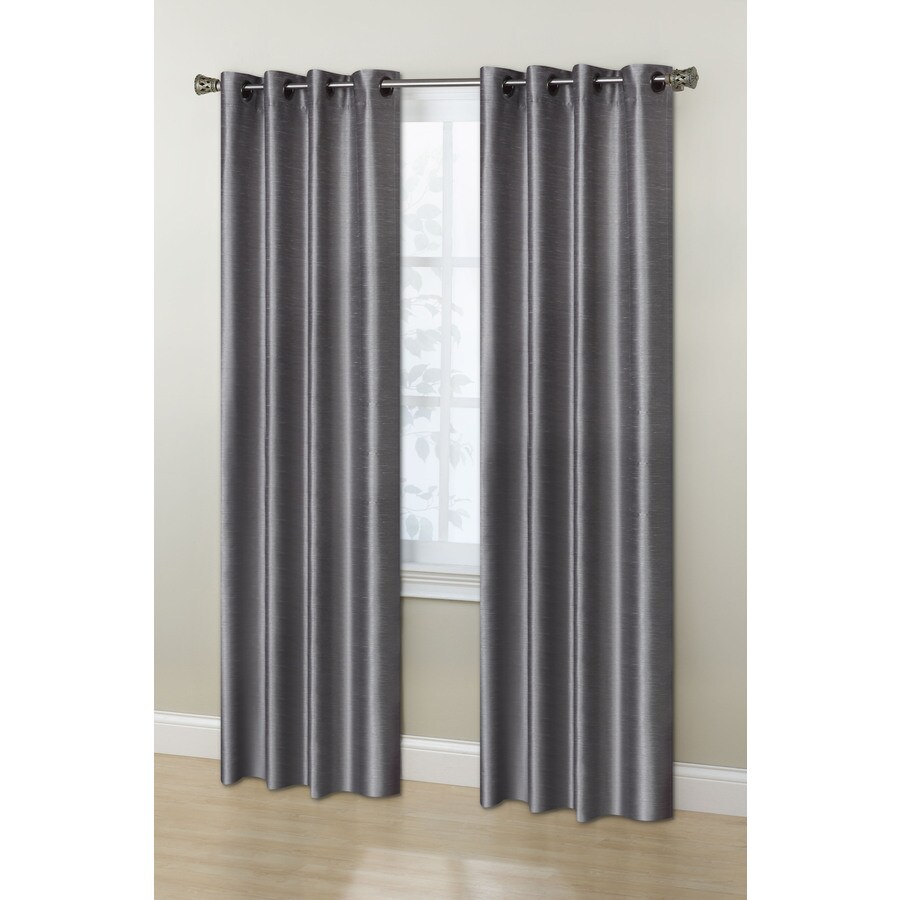 Stratford Park Ontario 84-in Birch Polyester Grommet Room Darkening Curtain Panel Pair