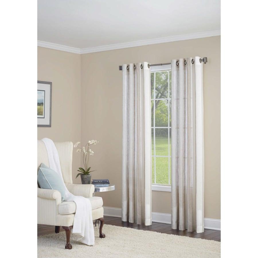 allen + roth Grovegate 84-in Camel Polyester Grommet Light Filtering Single Curtain Panel