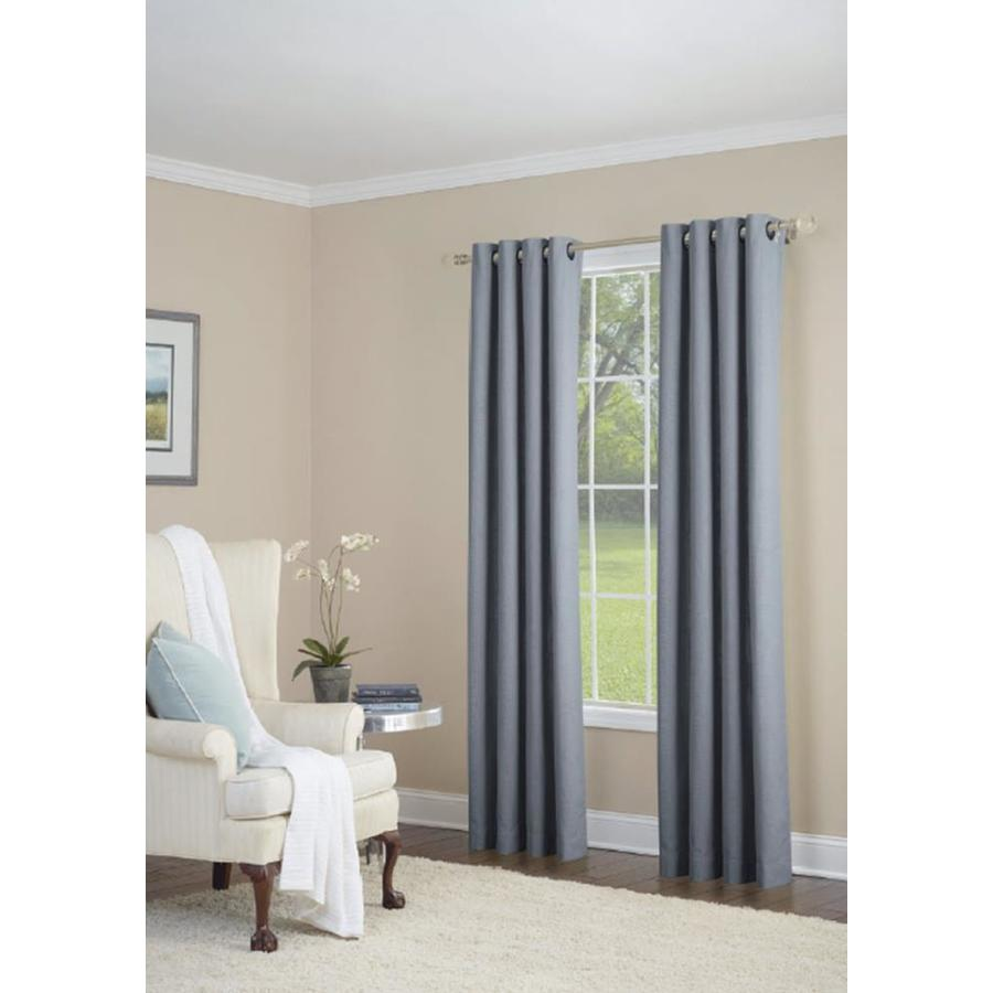 allen + roth Whinfell 84-in Sky Blue Faux Linen Grommet Light Filtering Single Curtain Panel