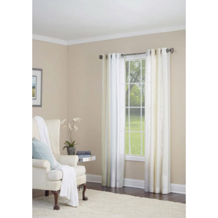 allen + roth Grovegate 95-in Gold Faux Linen Grommet Semi-Sheer Single Curtain Panel