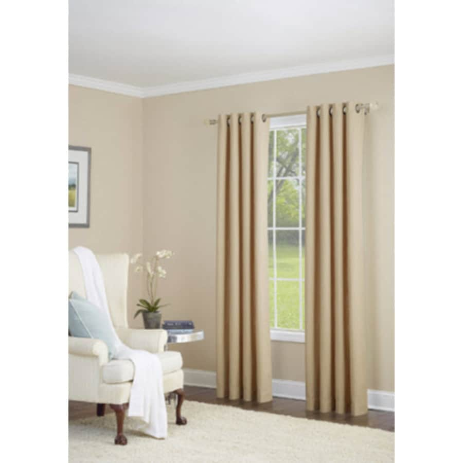 allen + roth Whinfell 95-in Sand Faux Linen Grommet Light Filtering Single Curtain Panel