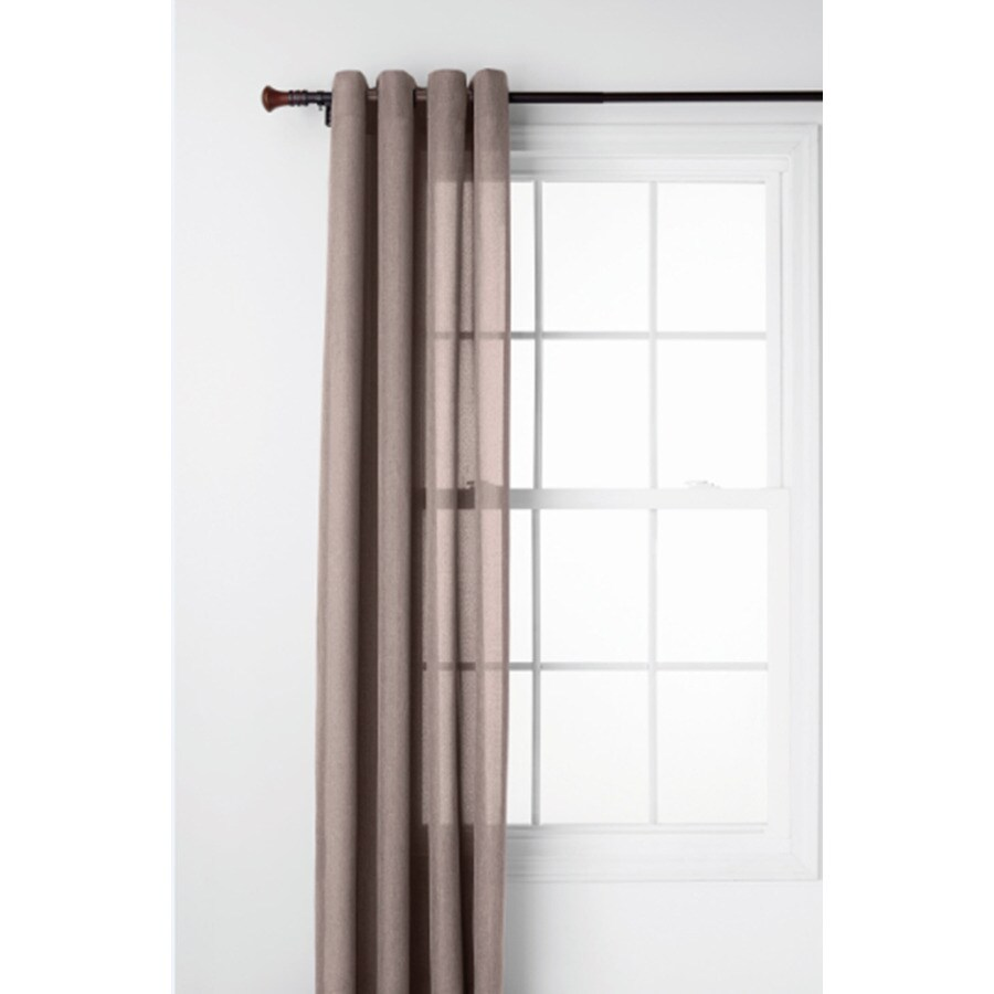 Style Selections Ephron 84-in Brown Polyester Grommet Semi-Sheer Single Curtain Panel