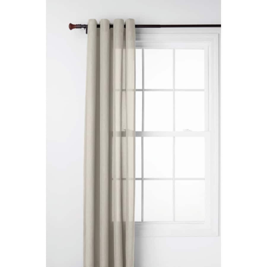 Style Selections Ephron 95-in Ivory Polyester Grommet Light Filtering Semi-Sheer Single Curtain Panel