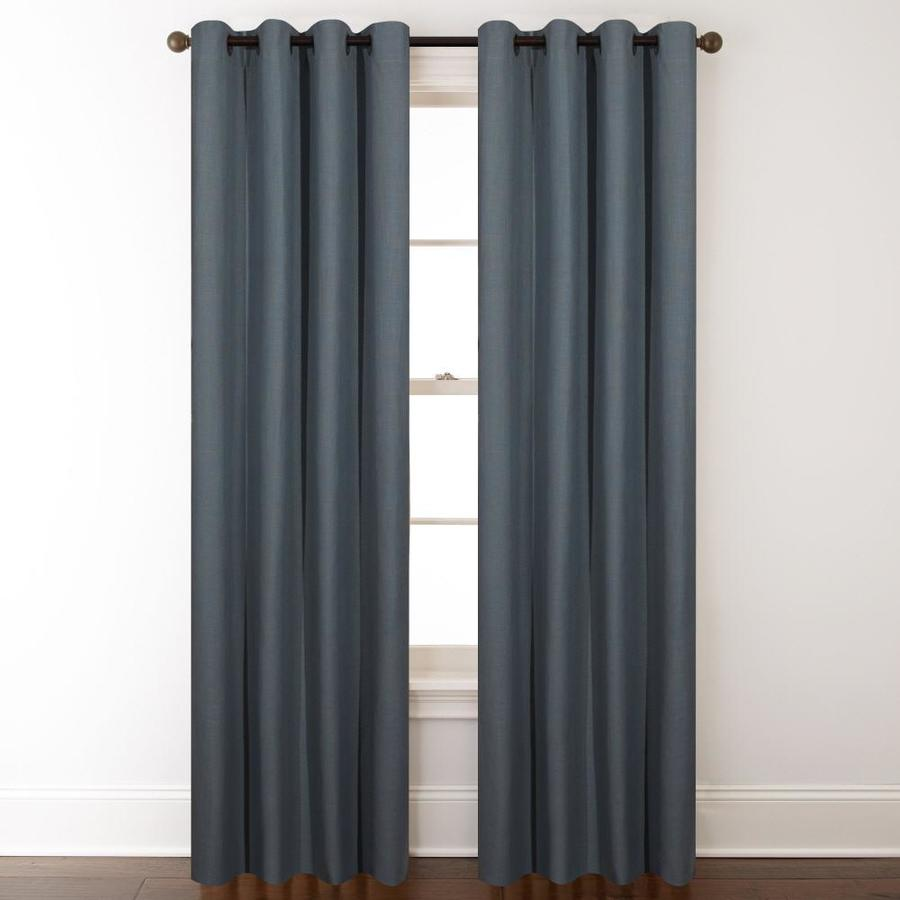 shop allen roth whinfell 84 in mineral faux linen 88326