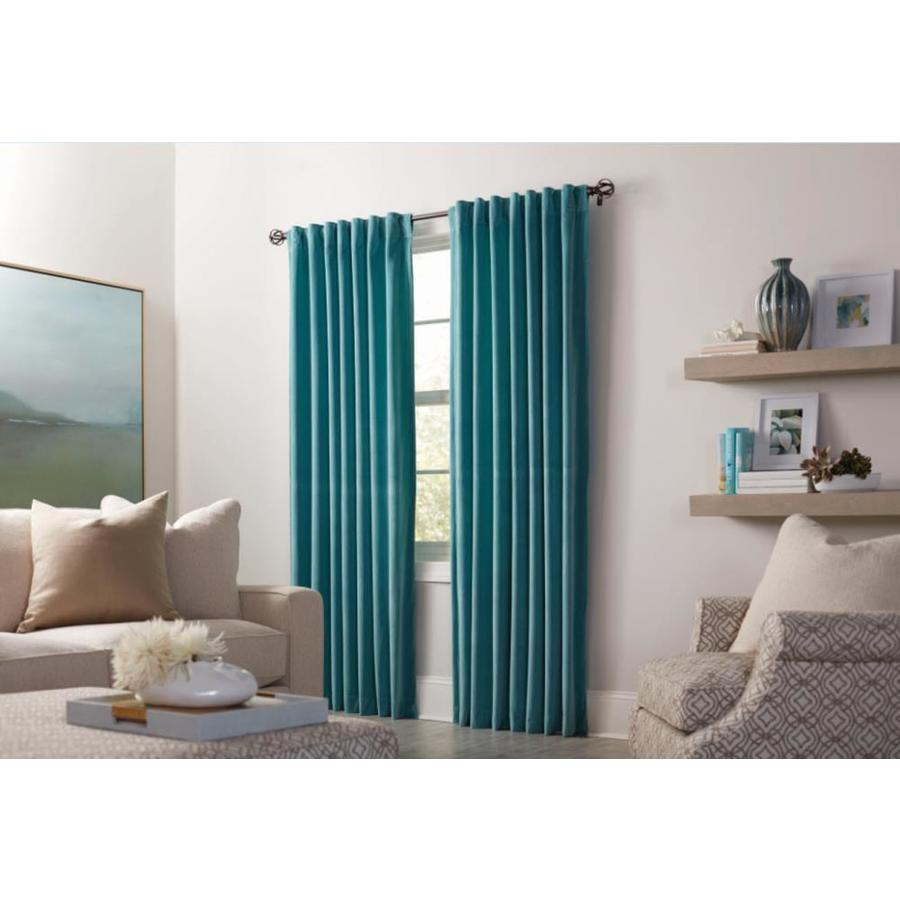 allen + roth Burgett 63-in Mineral Polyester Back Tab Light Filtering Single Curtain Panel