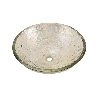 Jsg Oceana Crystal Reflections Glass Vessel Round Bathroom