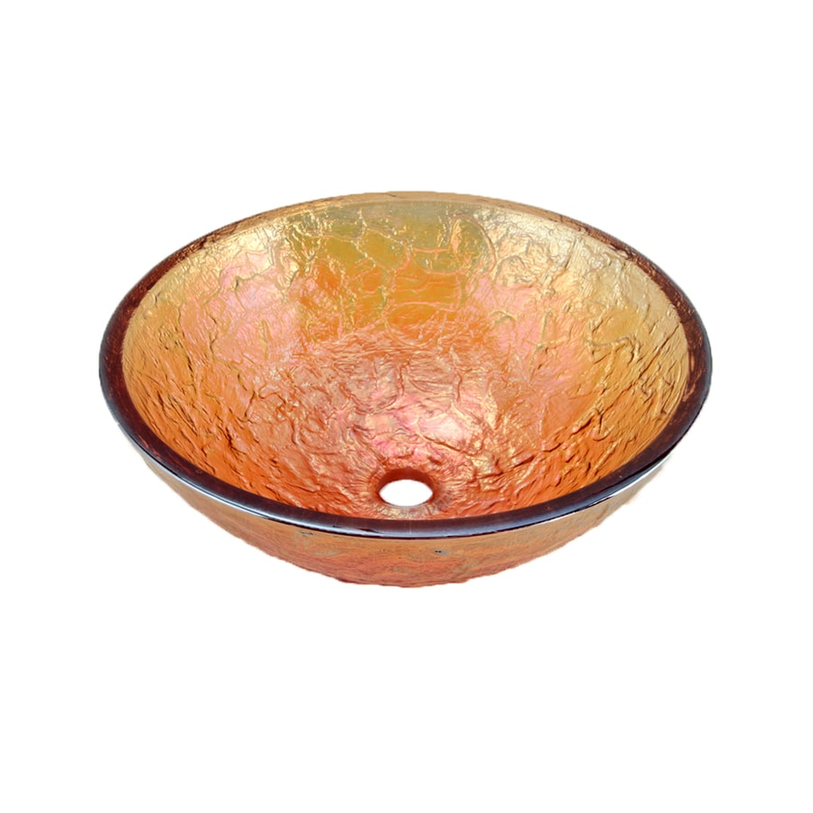 Shop Jsg Oceana Gold Reflections Glass Vessel Round