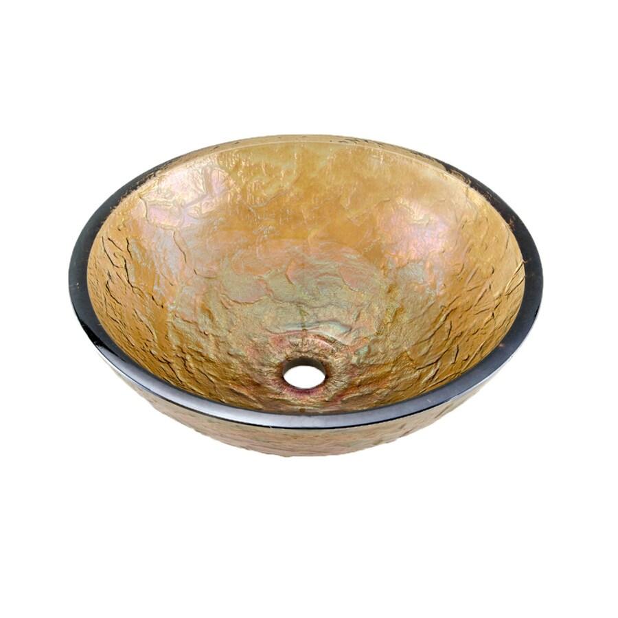 JSG Oceana Green Reflections Glass Vessel Round Bathroom Sink