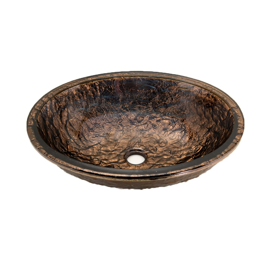 Delicieux JSG Oceana Cobalt Copper Glass Undermount Oval Bathroom Sink