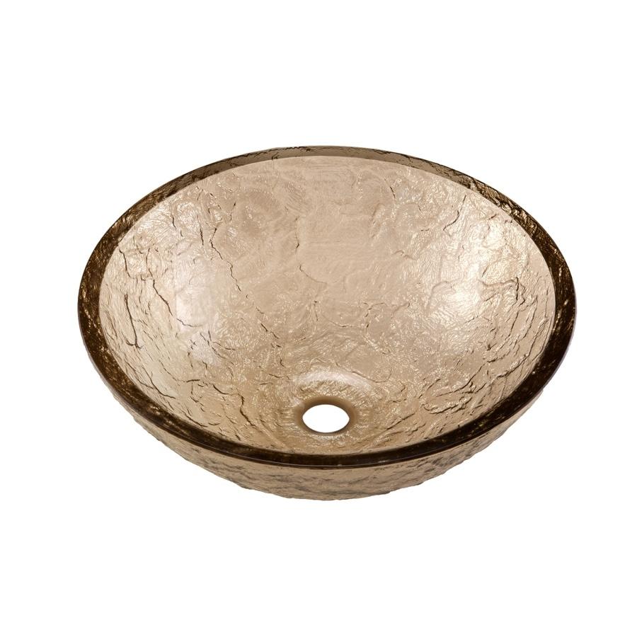 JSG Oceana Fawn Glass Vessel Round Bathroom Sink