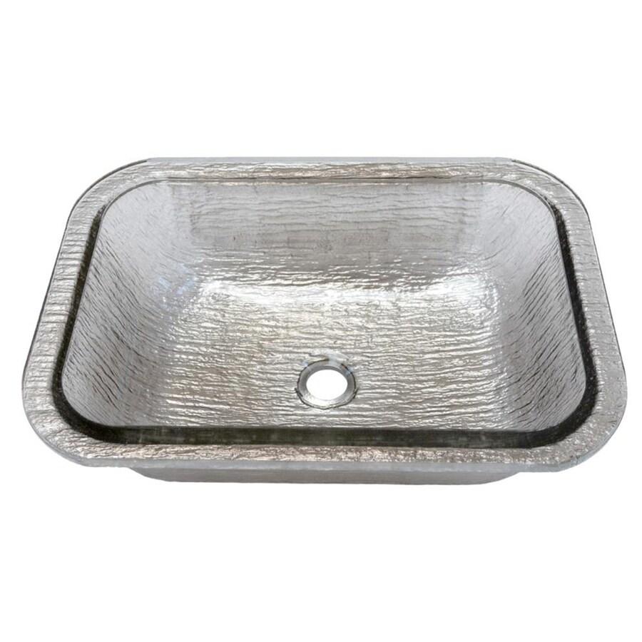 Jsg oceana oasis rectangle undermount black nickel glass - Rectangle undermount bathroom sink ...