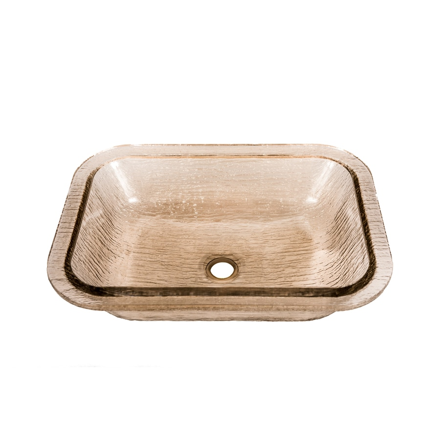 Shop Jsg Oceana Oasis Rectangle Undermount Fawn Glass Undermount Rectangular Bathroom Sink At