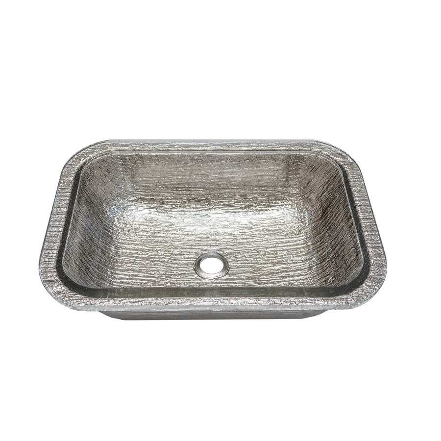 nice Oceana Sinks For Bathroom Part - 16: JSG Oceana Oasis Rectangle Undermount Platinum Glass Undermount Rectangular Bathroom  Sink