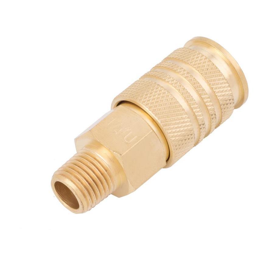 Kobalt Brass NPT Coupler (M) 1/4-in Universal