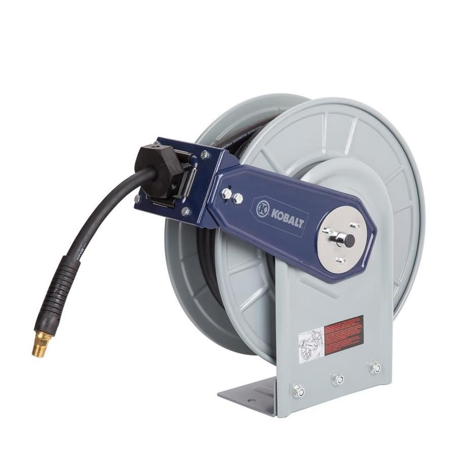 Kobalt Retractable Hose Reel with Rubber Air Hose