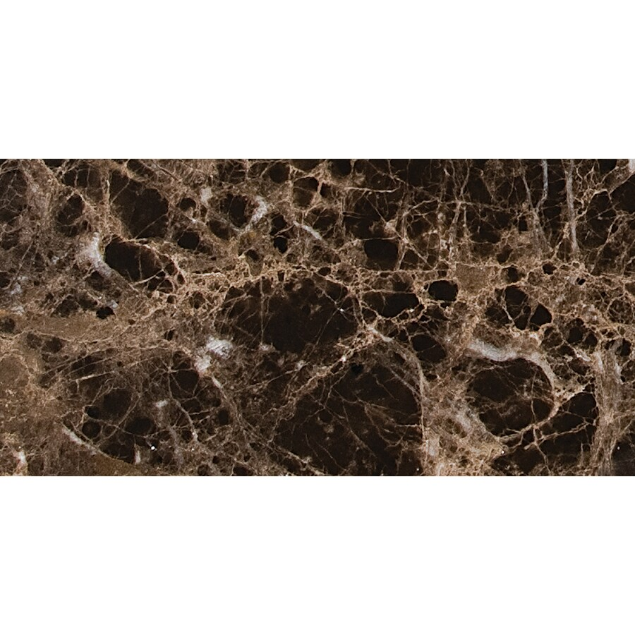 Marble Systems 60-Pack NBS Emperador Dark Natural Stone Rectangle Accent Tile (Common: 3-in x 6-in; Actual: 2.75-in x 5.5-in)