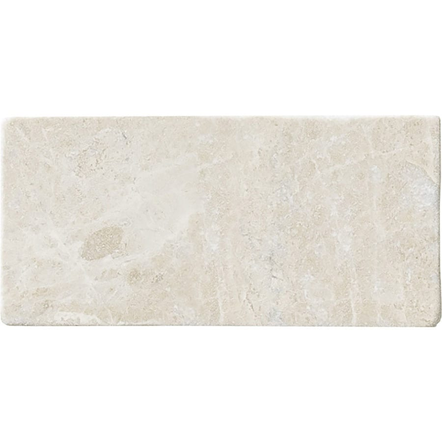 Bermar Natural Stone Royal Beige Tumbled Marble Floor and Wall Tile (Common: 3-in x 6-in; Actual: 3-in x 6-in)
