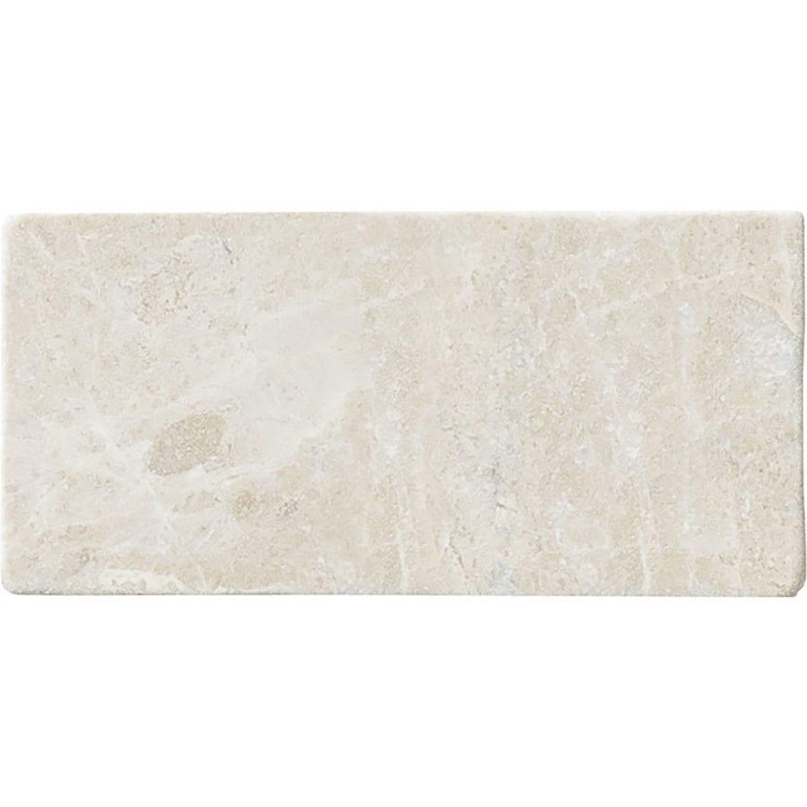 Shop bermar natural stone royal beige tumbled marble floor and bermar natural stone royal beige tumbled marble floor and wall tile common 3 dailygadgetfo Gallery