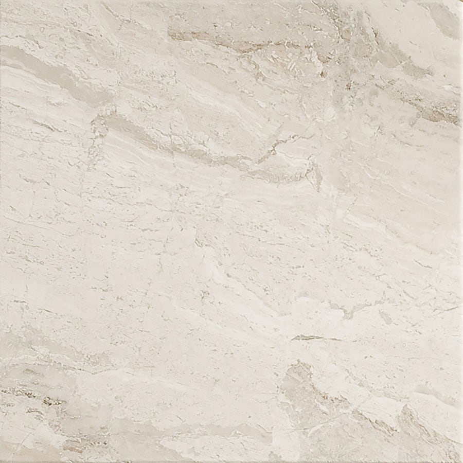 Bermar Natural Stone Royal Beige Antiqued Marble Floor and Wall Tile (Common: 12-in x 12-in; Actual: 12-in x 12-in)
