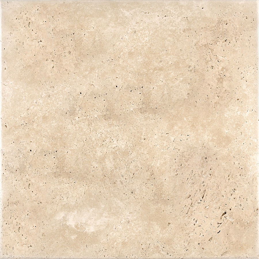 Shop Bermar Natural Stone Ivory Antiqued Travertine Floor And Wall Tile Common 18 In X 18 In