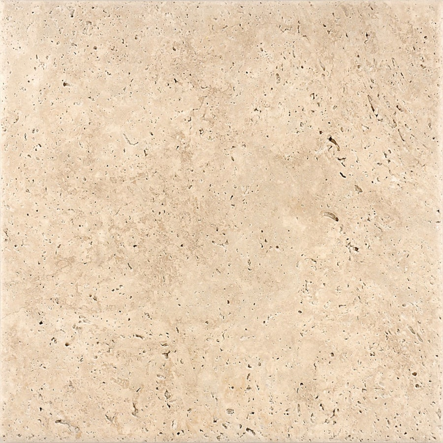 Bermar Natural Stone Ivory Antiqued Travertine Floor and Wall Tile (Common: 12-in x 12-in; Actual: 12-in x 12-in)