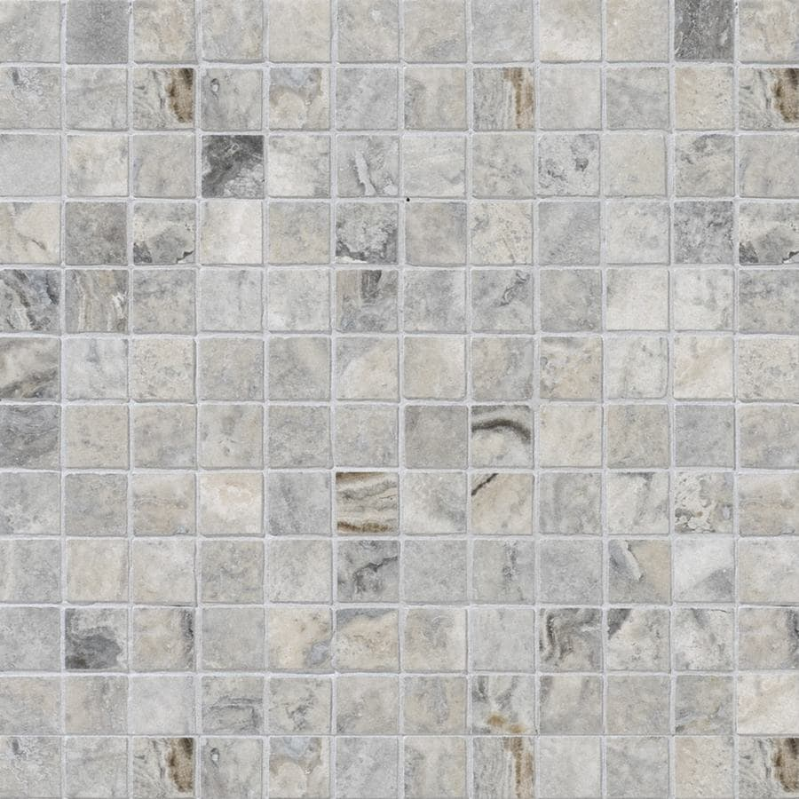 Bermar Natural Stone Silverado Honed and Amp; Filled Travertine Floor and Wall Tile (Common: 12-in x 12-in; Actual: 12-in x 12-in)