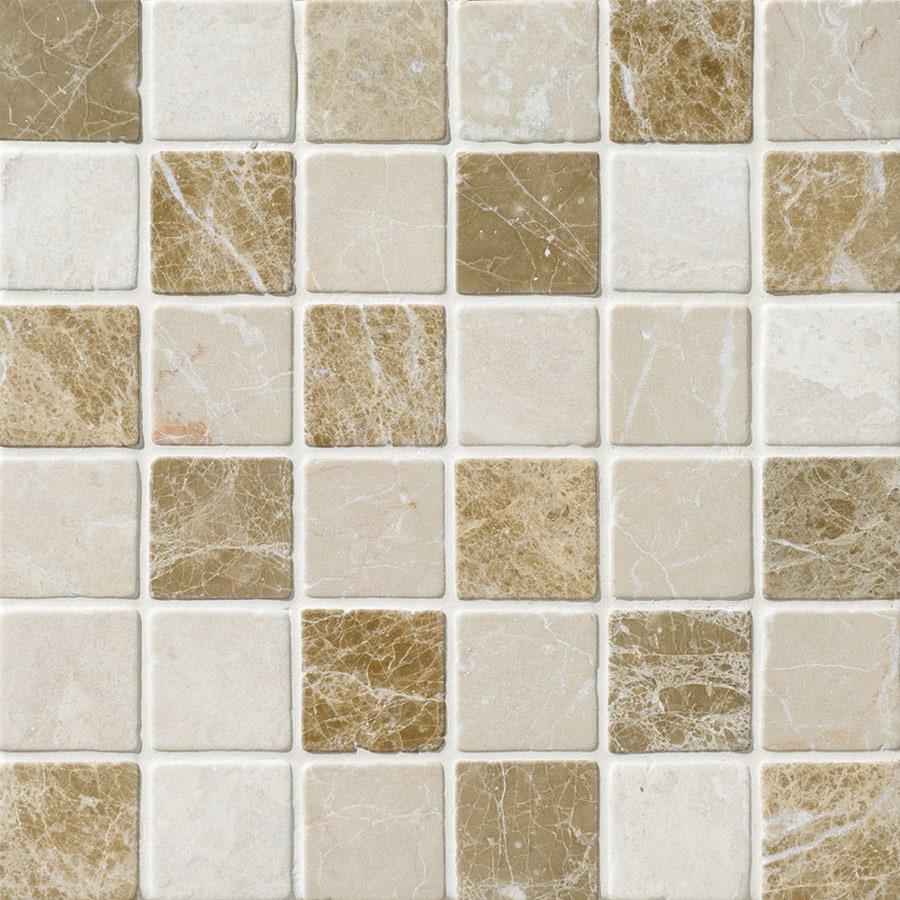 Shop bermar natural stone naples blend tumbled marble floor and wall bermar natural stone naples blend tumbled marble floor and wall tile common 12 dailygadgetfo Images