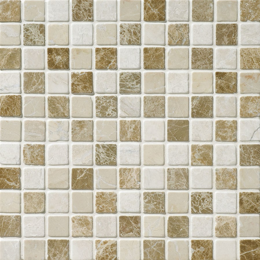 Bermar Natural Stone Naples Blend Tumbled Marble Floor and Wall Tile (Common: 12-in x 12-in; Actual: 12-in x 12-in)