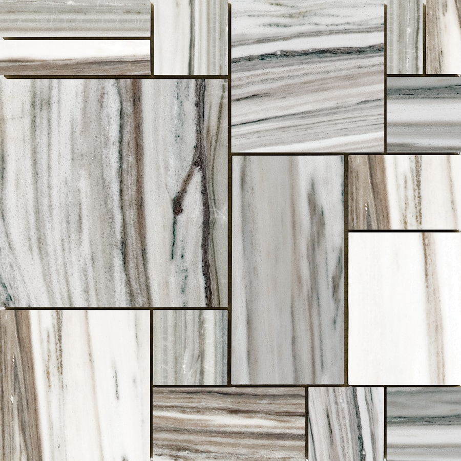 Marble Systems 6-Pack NBS Verona Natural Stone Mosaic Square Wall Tile (Common: 12-in x 12-in; Actual: 12-in x 12-in)