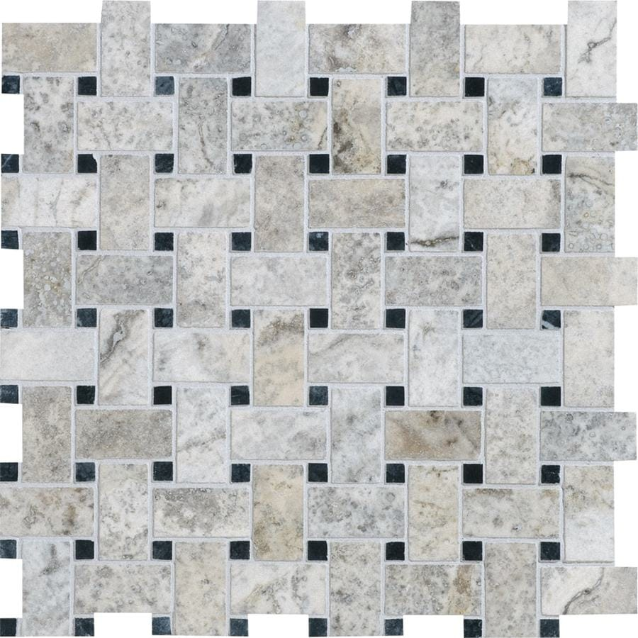 Bermar Natural Stone Silverado Honed and Amp; Filled Travertine Floor and Wall Tile (Common: 12-in x 12-in; Actual: 12.25-in x 12.25-in)