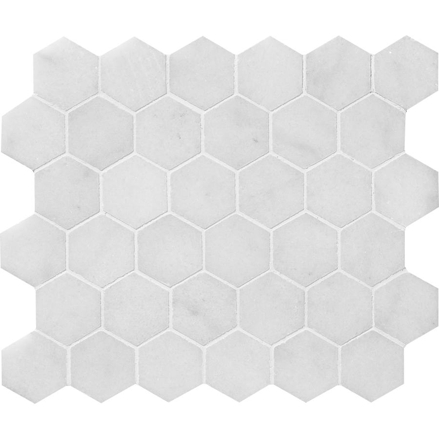 Bermar Natural Stone Arctic White Honed Marble Floor and Wall Tile (Common: 12-in x 12-in; Actual: 10.5-in x 12-in)