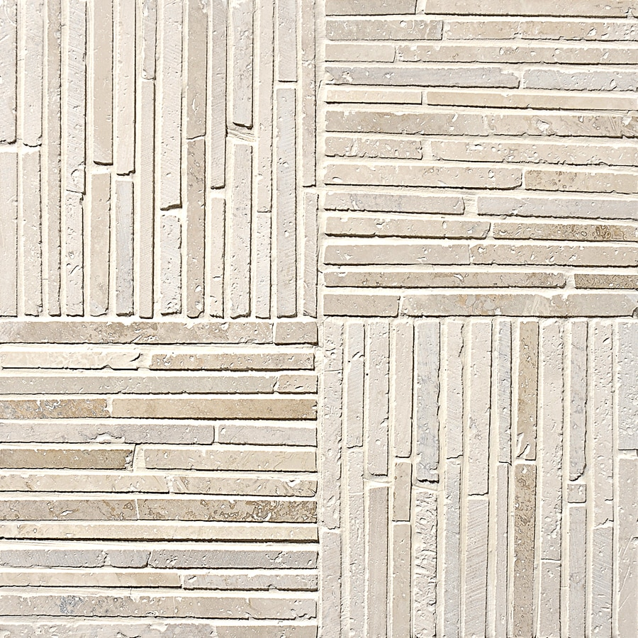Marble Systems 5-Pack NBS Ivory Natural Stone Mosaic Square Wall Tile (Common: 12-in x 12-in; Actual: 12-in x 12-in)