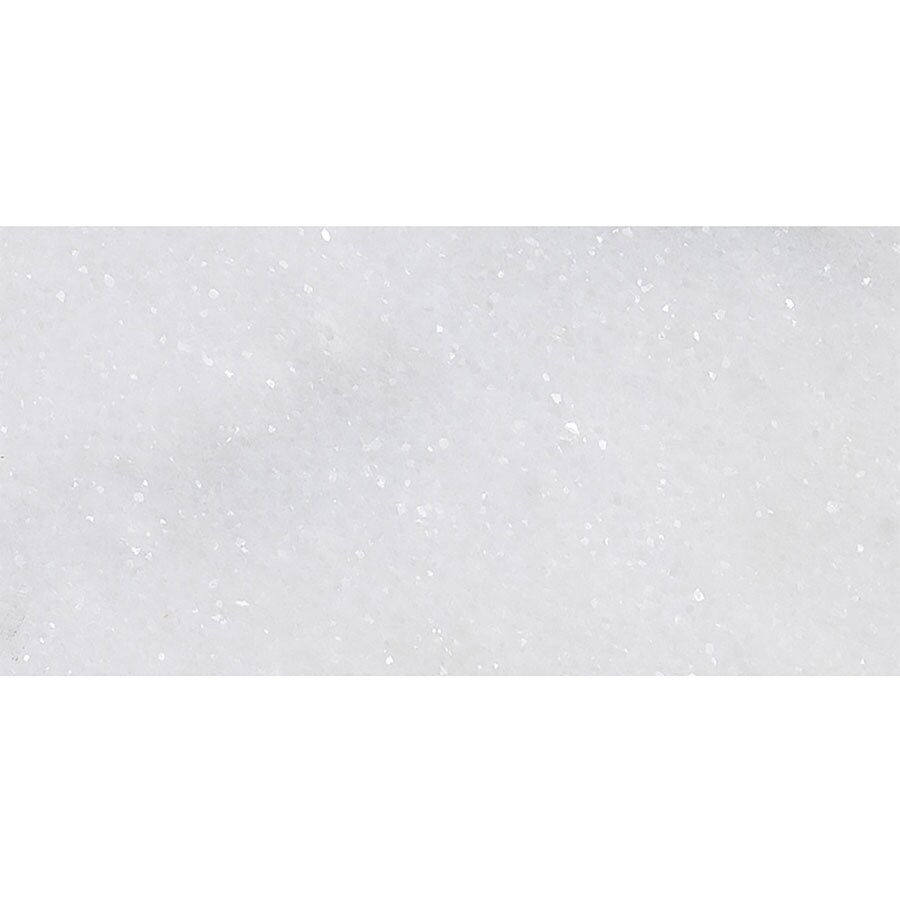 Bermar Natural Stone Arctic White Honed Marble Floor and Wall Tile (Common: 12-in x 24-in; Actual: 12-in x 24-in)