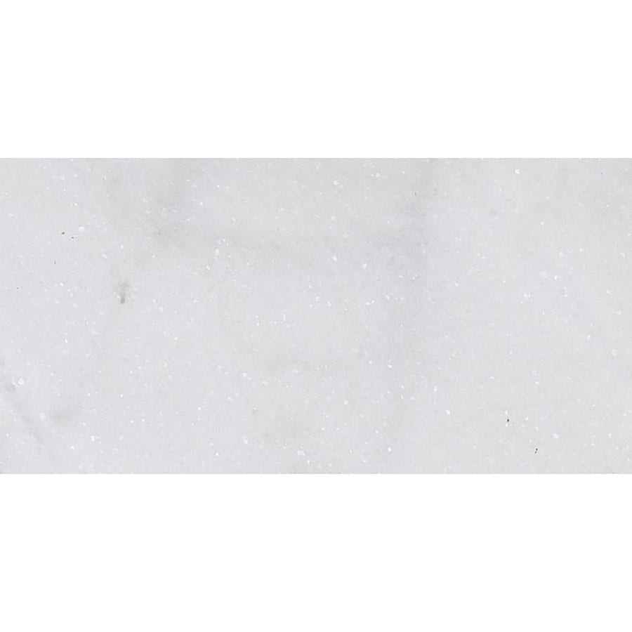 Bermar Natural Stone Arctic White Polished Marble Floor and Wall Tile (Common: 12-in x 24-in; Actual: 12-in x 24-in)