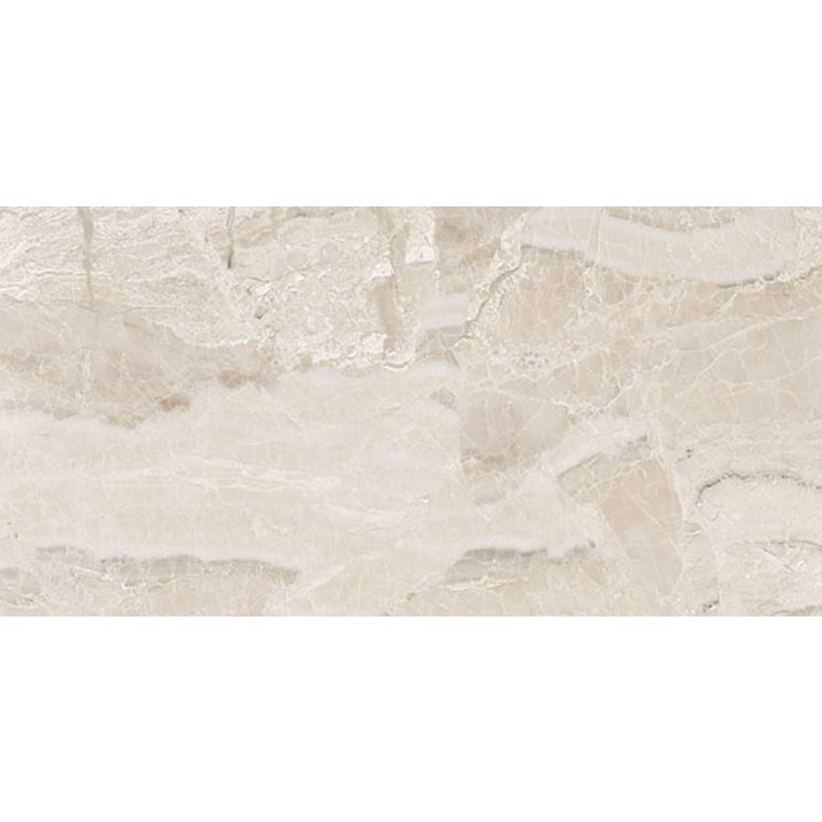 Bermar Natural Stone Royal Beige Honed Marble Floor and Wall Tile (Common: 12-in x 24-in; Actual: 12-in x 24-in)