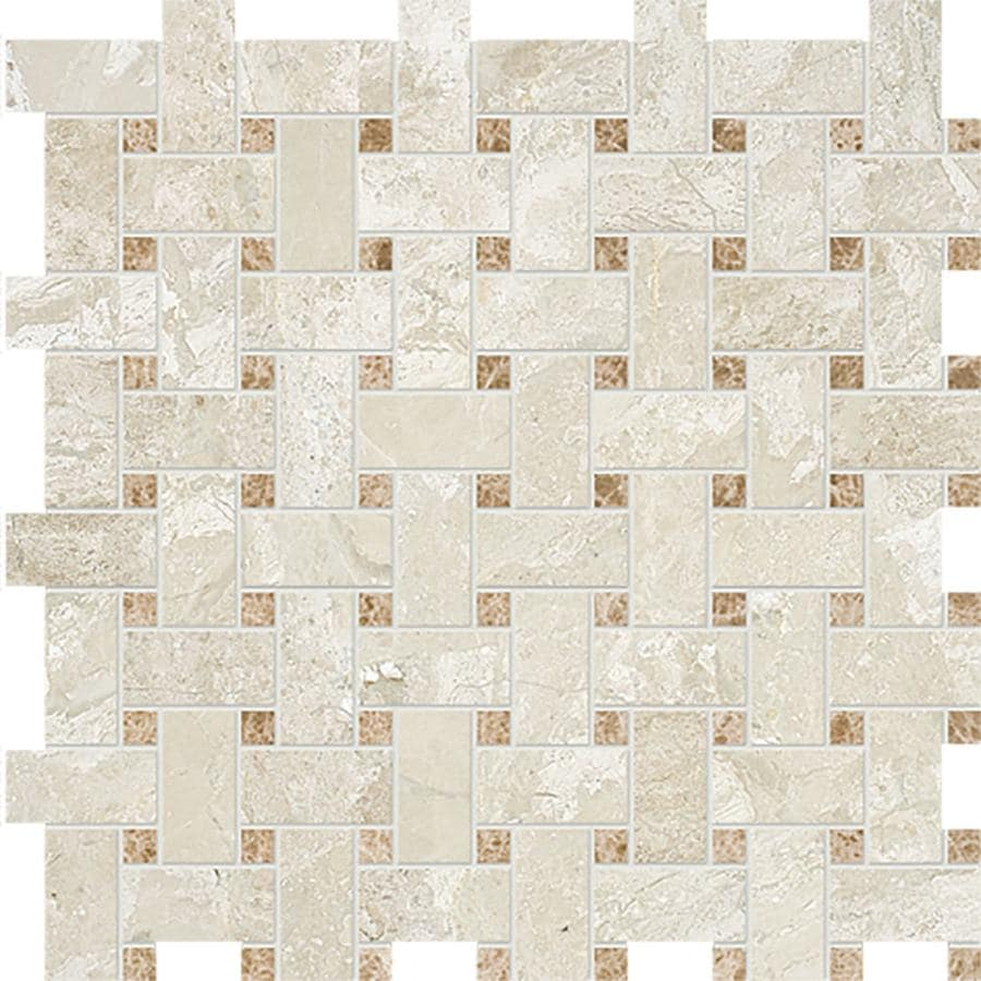 Bermar Natural Stone Royal Beige Honed Marble Floor and Wall Tile (Common: 12-in x 12-in; Actual: 12.25-in x 12.25-in)