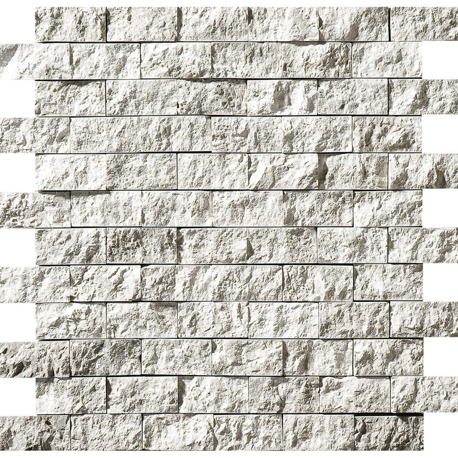 Bermar Natural Stone Silver Sky Rock Face Marble Floor and Wall Tile (Common: 12-in x 12-in; Actual: 11.75-in x 12-in)
