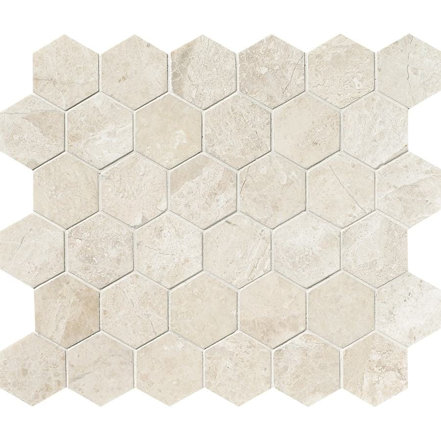 Bermar Natural Stone Royal Beige Polished Marble Floor and Wall Tile (Common: 12-in x 12-in; Actual: 10.5-in x 12-in)