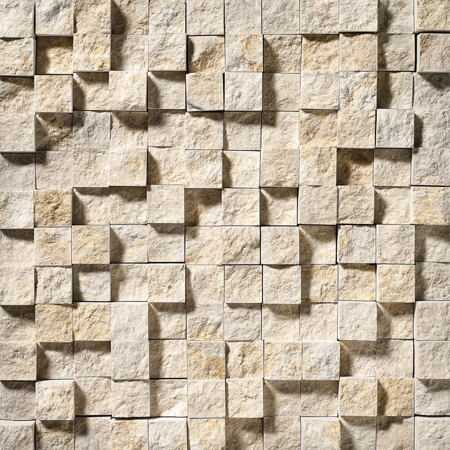 Bermar Natural Stone Shellstone Rock Face Limestone Floor and Wall Tile (Common: 12-in x 12-in; Actual: 12-in x 12-in)
