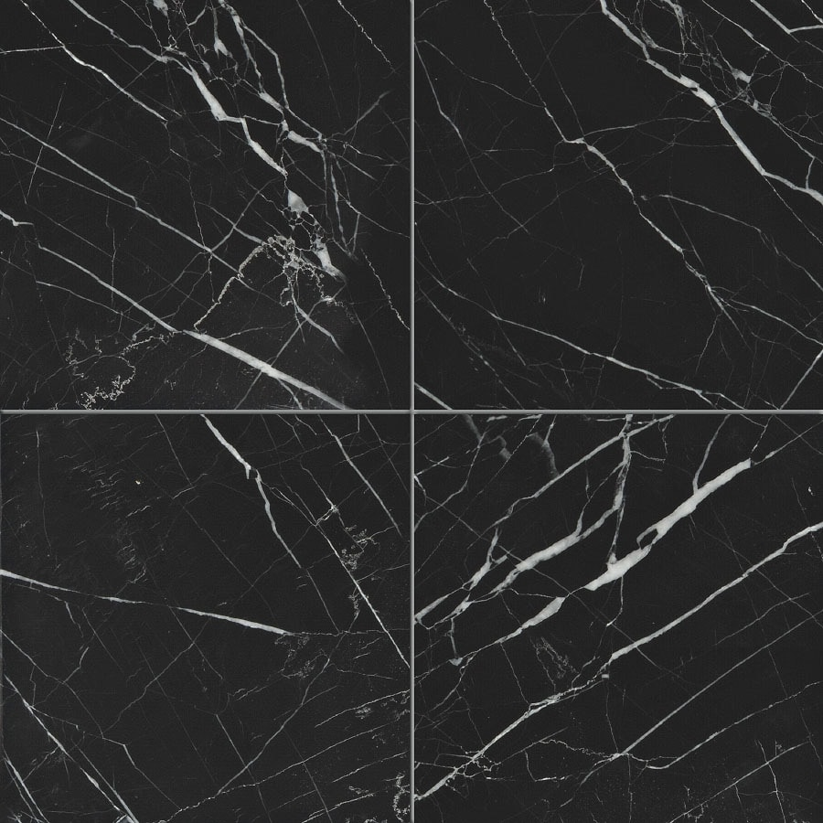 Shop Bermar Natural Stone Black Marble Honed Marble Floor And Wall Tile Common 12 In X 12 In