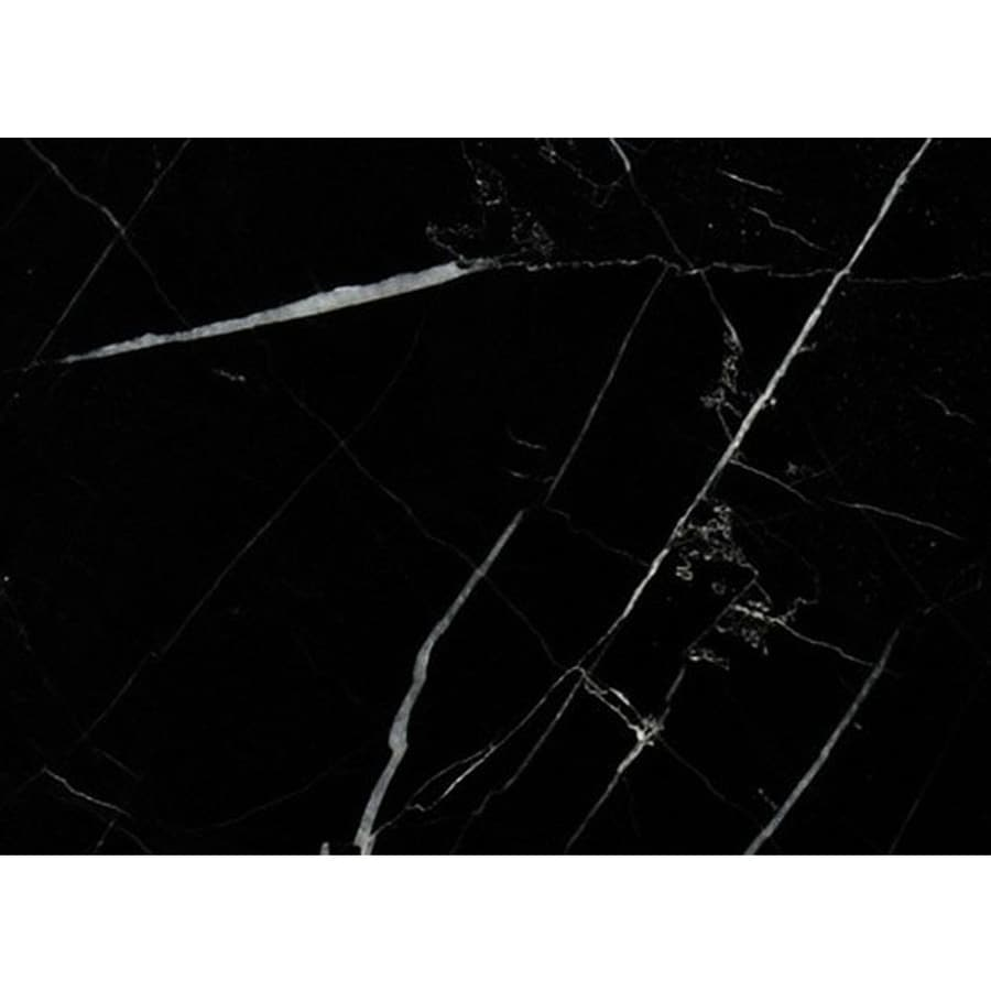 Bermar Natural Stone Black Marble Honed Marble Floor and Wall Tile (Common: 3-in x 6-in; Actual: 2.75-in x 5.5-in)