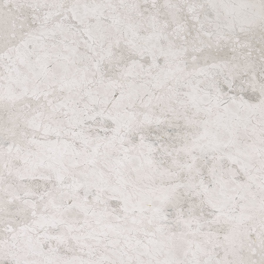 Bermar Natural Stone Silver Sky Polished Marble Floor and Wall Tile (Common: 12-in x 12-in; Actual: 12-in x 12-in)