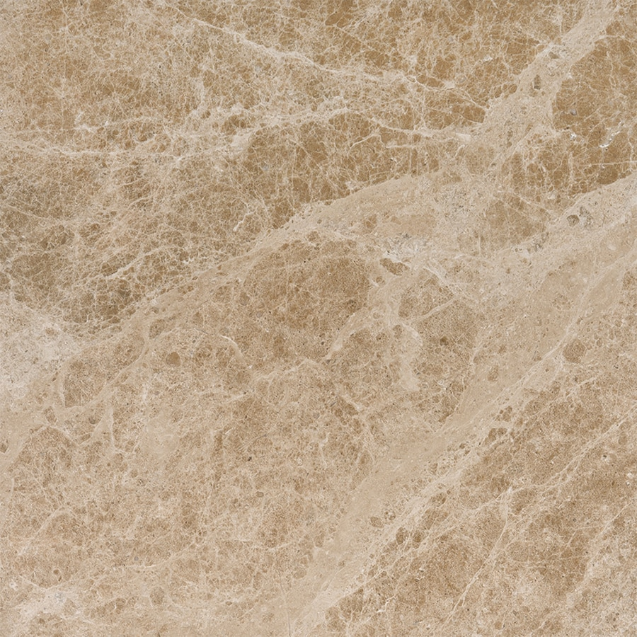Bermar Natural Stone Emperador Light Polished Marble Floor and Wall Tile (Common: 18-in x 18-in; Actual: 18-in x 18-in)