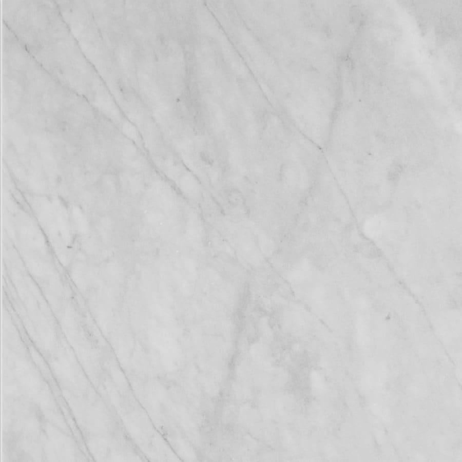 Bermar Natural Stone White Cloud Honed Marble Floor and Wall Tile (Common: 18-in x 18-in; Actual: 18-in x 18-in)