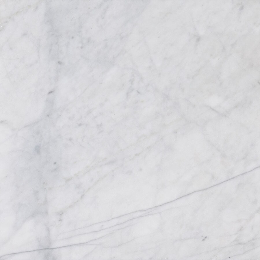 Bermar Natural Stone White Cloud Honed Marble Floor and Wall Tile (Common: 12-in x 12-in; Actual: 12-in x 12-in)
