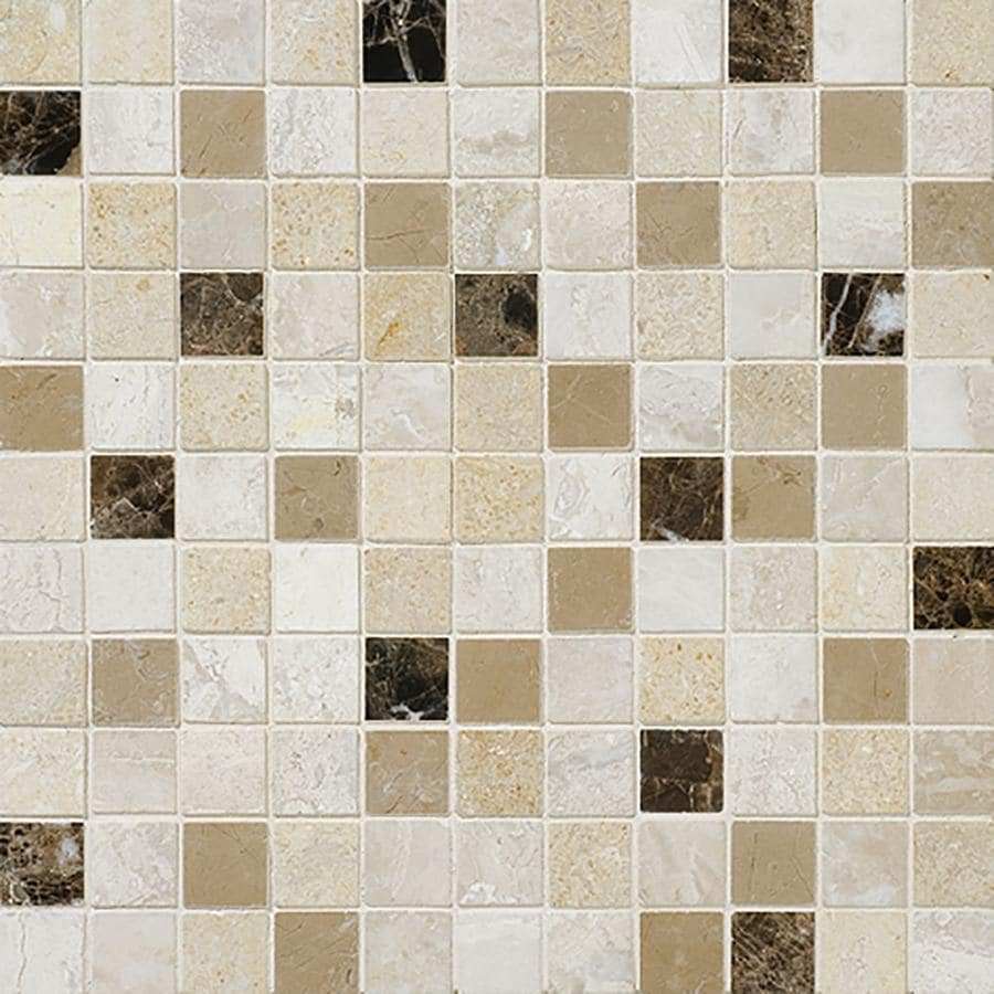 Bermar Natural Stone Bari Blend Honed Marble Floor and Wall Tile (Common: 12-in x 12-in; Actual: 12-in x 12-in)