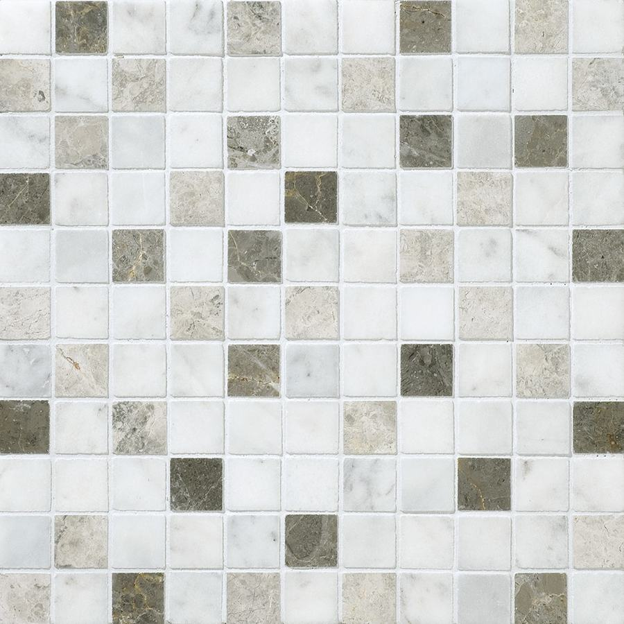 Bermar Natural Stone Venice Blend Honed Marble Floor and Wall Tile (Common: 12-in x 12-in; Actual: 12-in x 12-in)