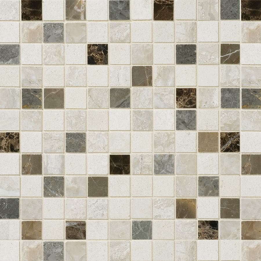 Bermar Natural Stone Bologna Blend Honed Marble Floor and Wall Tile (Common: 12-in x 12-in; Actual: 12-in x 12-in)