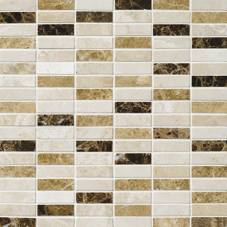 Bermar Natural Stone Naples Blend Polished Marble Floor and Wall Tile (Common: 12-in x 12-in; Actual: 12-in x 12-in)