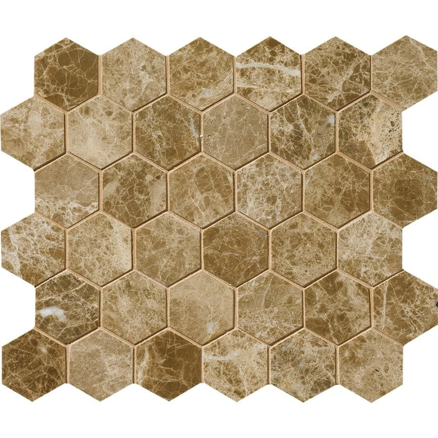Bermar Natural Stone Emperador Light Polished Marble Floor and Wall Tile (Common: 12-in x 12-in; Actual: 10.5-in x 12-in)